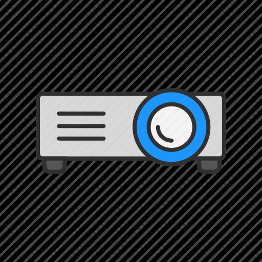 presentation, projector, repoort, video icon