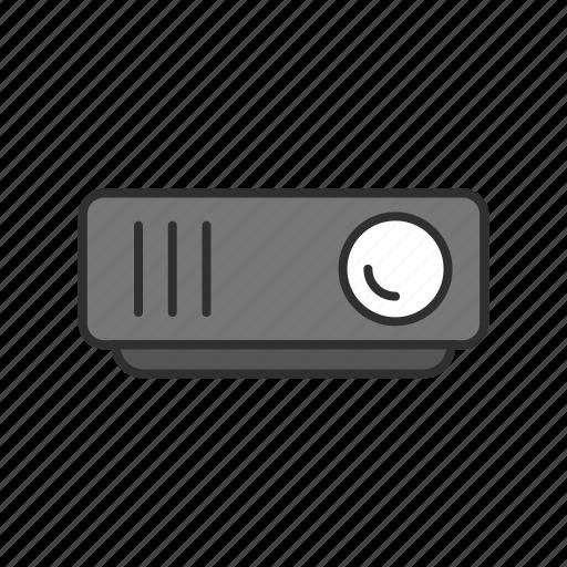 presentation, projector, report, video icon