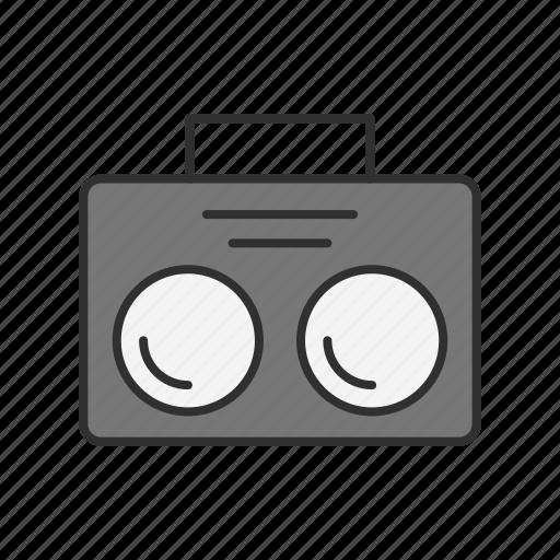 casette, music, music player, radio icon
