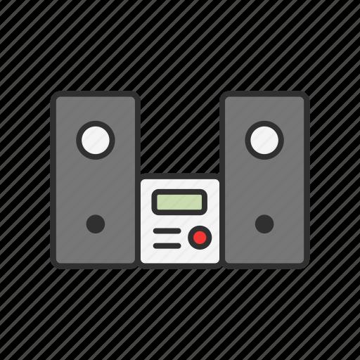 audio, component, music, speakers icon