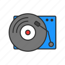 dj, record, turntable, vinyl icon