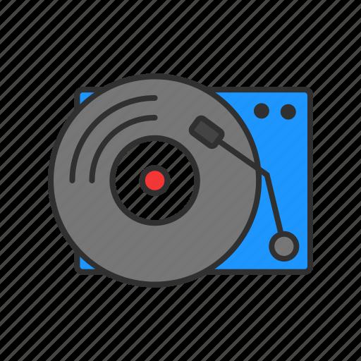 dj, record, turntable, vinyl icon
