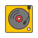 dj, record, scratch, turntable icon