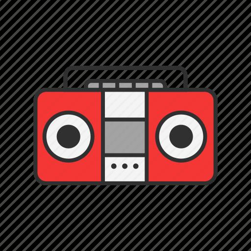 casette, music player, radio, record icon