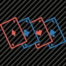 clover, diamond, gamble, gambling, heart, playing cards, spade icon