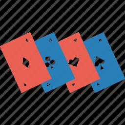casino, clover, diamond, gambling, heart, playing cards, spade icon