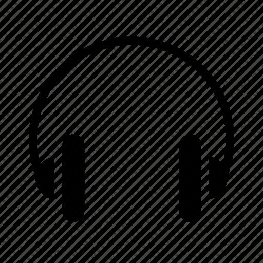 headphone, headphones, headset, over ear headphones, over ears icon