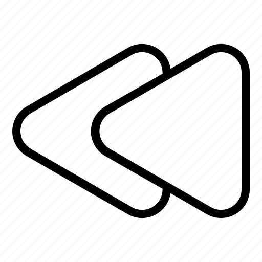 music, player, previous, rewind, rewind button icon