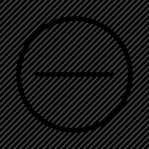 delete, hide, minus, remove, subtract icon