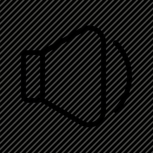 audio, quiet, speaker, volume, volume button, volume down icon