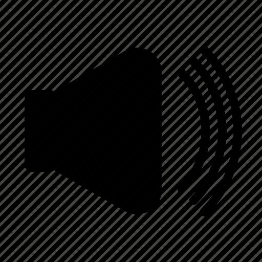 audio, loud, speaker, volume, volume button, volume up icon