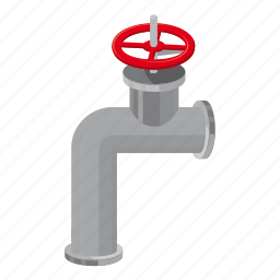 abstract, banner, cartoon, chrome, construction, pipe, valve icon