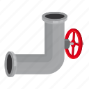 cartoon, conduit, control, engineering, piece, pipeline, valve icon
