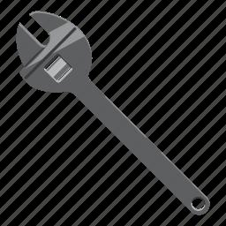 adjust, adjustment, bolt, build, cartoon, pipe, wrench icon