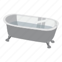 apartment, bath, bathroom, bathtub, bubble, cartoon, ceramic icon