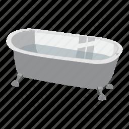 apartment, bath, bathroom, bathtub, bubble, cartoon, ceramic icon