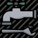 faucet, repair, pipe, water, tap