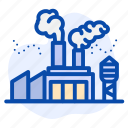 air pollution, factory, industry, smoke icon