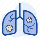 cancer, heart, lung, organ icon
