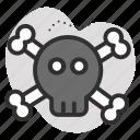 dangerous, dead, death, poison, skull icon
