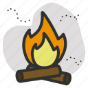 burn, fire, pollution icon