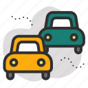 cars, pollution, traffic, transport icon