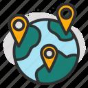 check, data, destination, global, location, pin, world