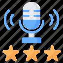 audio, microphone, rating, podcast, favorite, star, radio icon