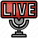 live, broadcasting, podcast, streaming, news