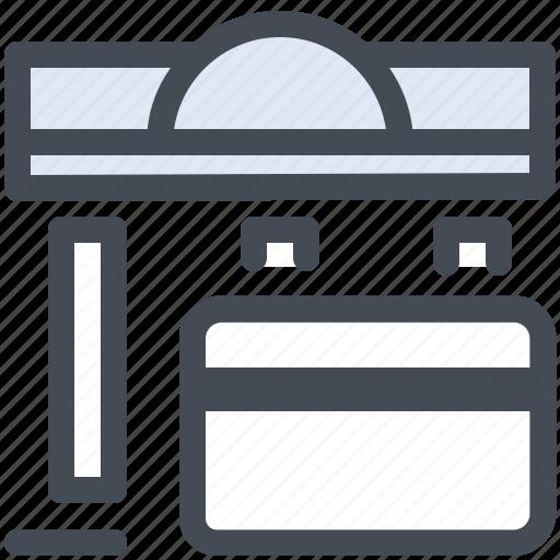 account, bank, banking, merchant icon