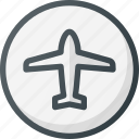 airport, direction, gps, location, map, place, points of interest icon