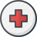 direction, gps, hospital, location, map, place, points icon