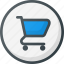 direction, gps, location, map, place, points of interest, supermarket icon
