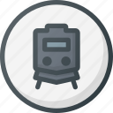 direction, location, map, place, points of interest, station, train icon