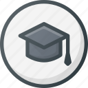 direction, gps, location, map, place, school, university icon