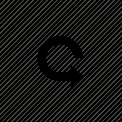 arrow, continue, recycle, refresh, round icon