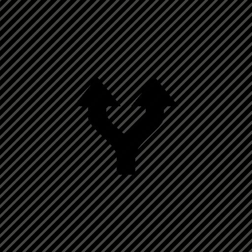 arrow, fork icon