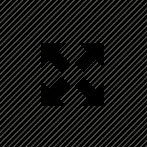 arrow, fullscreen icon