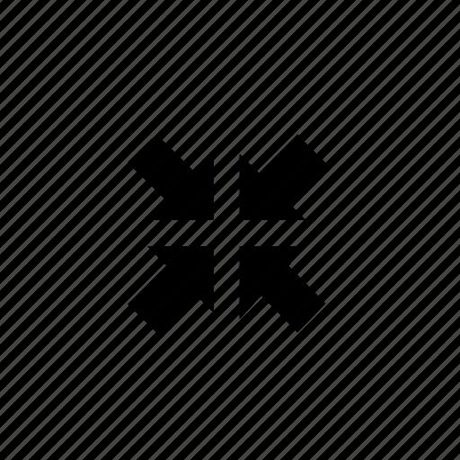 arrow, fullscreen, reversed icon