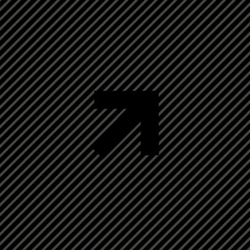arrow, diagonal icon