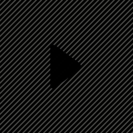 arrow, right, triangle icon