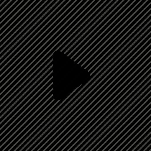 arrow, right, round, triangle icon