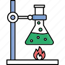 chemical experiment, chemical reaction, hazard chemical, hazard reaction icon