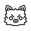 character, fun, game, mankey, pig, play, shape icon