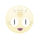 cute, go, meowth, monster, pokemon icon