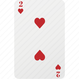 card, hazard, heart, playing card, poker, two icon