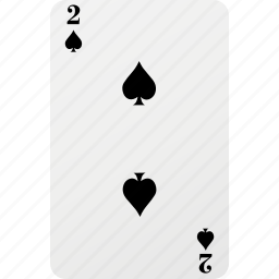 card, hazard, playing card, poker, spad, two icon