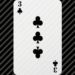 card, club, hazard, playing card, poker icon