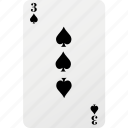 card, hazard, playing card, poker, spad icon