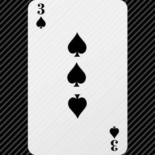 card, hazard, playing card, poker, spad icon